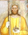 King Peter I of Cyprus, detail from fresco in Santa Maria Novella in Florence by Andrea di Bonaiuto, 1365