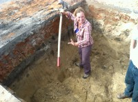 Stockade wall dig, October 5th, picture by Dan Elliott
