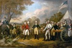 """The Surrender of General Burgoyne at Saratoga"" by John Trumbull, 1822"