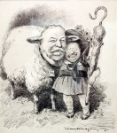 Taft as TR&#039;s sheep; political cartoon by William H. Walker, 1908