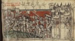 The Taking of Alexandria, illumination in book by Guillaume de Machaut, 1372-1377