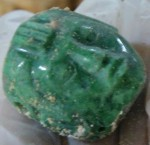 Carved jade head found in tomb