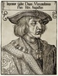 Portrait of Emperor Maximilian I by Albrecht Dürer ca. 1519, © Albertina, Vienna