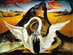 Bacchanale swan backdrop, reproduction