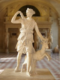 Artemis with a Deer, a.k.a. the Diana of Versailles, Roman copy of Greek original, 1st-2nd c. A.D.