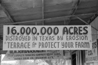 Government sign promoting terracing, Taylor, Texas, April 1939