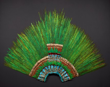 Moctezuma's headdress after restoration