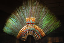 Moctezuma's headdress before restoration