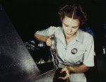 Mrs. Virginia Davis works in the assembly and repair department, the Naval Air Base, Corpus Christi, Texas, 1942