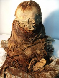 Peruvian toddler mummy, approx. 700 years old