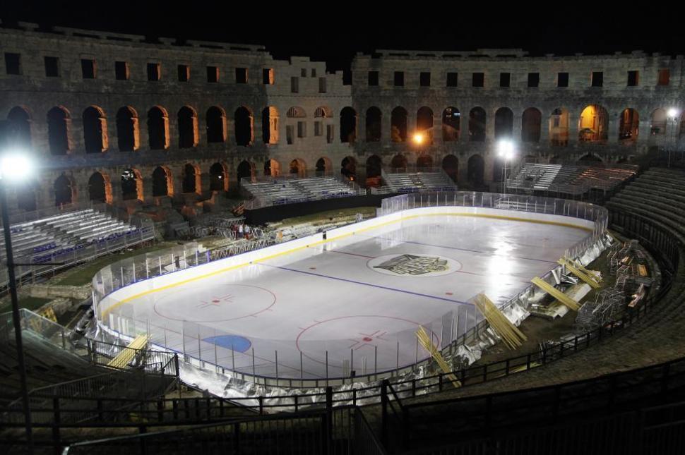 Pula Arena hockey rink...