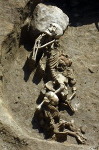 Remains of man and two children