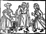 Shakespeare's three Scottish witches, print ca. 1600