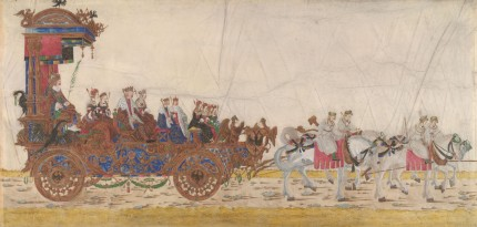 """The Emperor's Coach"" from the ""Triumphal Procession of Emperor Maximilian I"" by Albrecht Altdorfer, c. 1512-1515 © Albertina, Vienna"