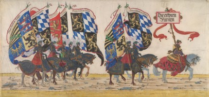 """The German Princes"" from the ""Triumphal Procession of Emperor Maximilian I"" by Albrecht Altdorfer c. 1512-1515 © Albertina, Vienna"