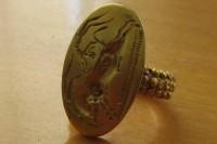 Ring with gold bull-dancing seal, ca. 1400 B.C.