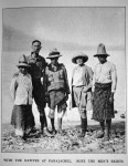 F.A. Mitchell-Hedges in Guatemala with his secretary and the 'natives'