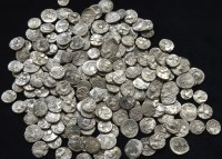 Gallic silver coins minted between 60 and 20 B.C. found in Bassing
