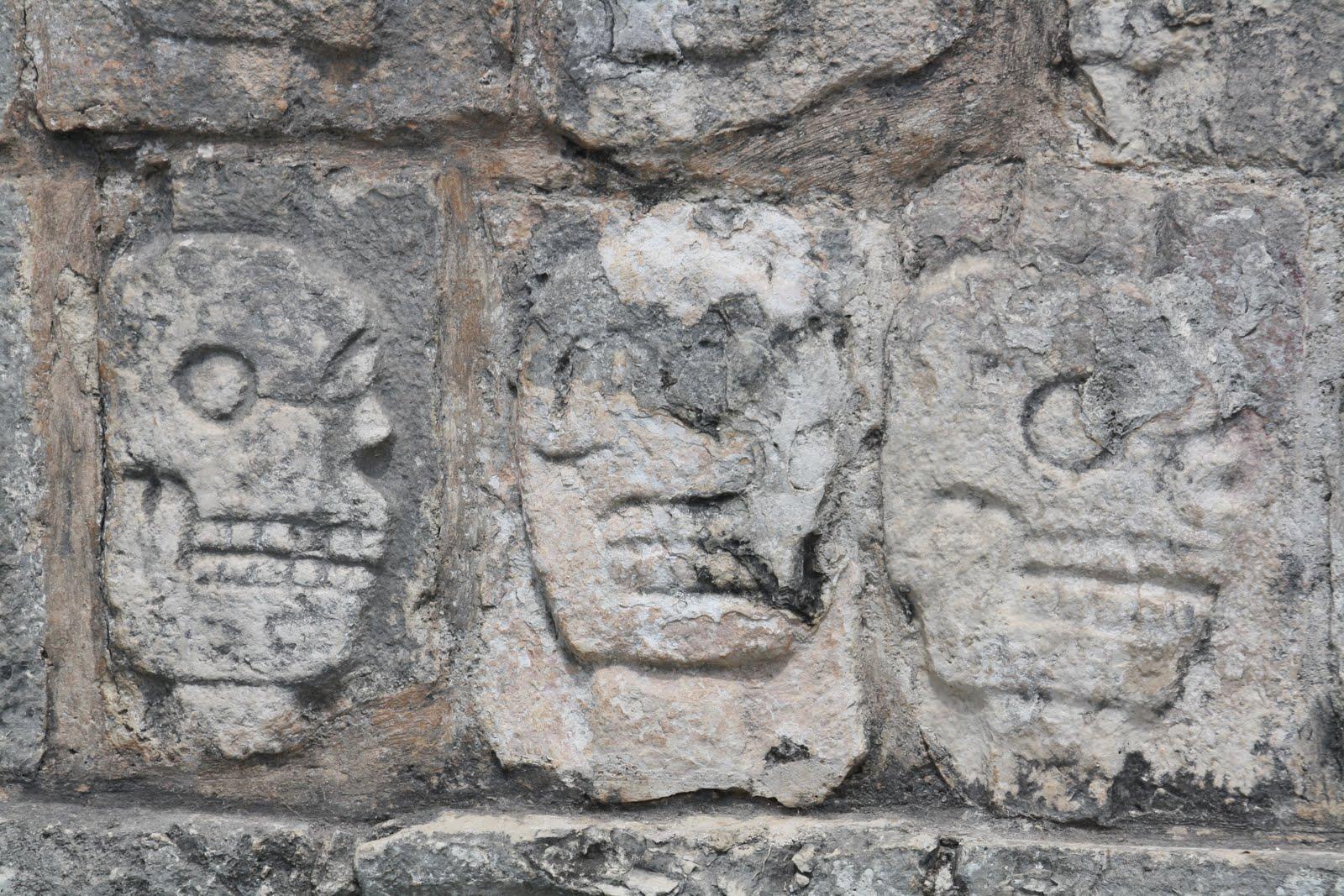 Mayan Skull Art
