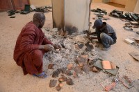 Burned manuscripts at Ahmed Baba Centre for Documentation and Research in Timbuktu, January 29th