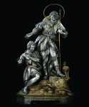 Tobias and the Angel, silver, brass, gilded bronze, 1797