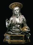 Saint Mary of Egypt, silver, gilded brass, 1699