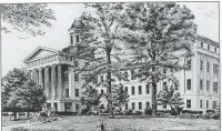 Drawing of the Mississippi State Lunatic Asylum, late 19th c.