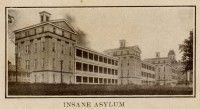 Mississippi State Insane Hospital (the name was changed in 1900) pictured in a 1915 postcard.