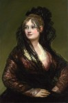 Portrait of Doña Isabel Cabos de Porcel wearing a mantilla, by Francisco Goya, ca. 1805