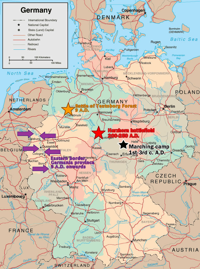 The History Blog Blog Archive Roman marching camp found in Thuringia