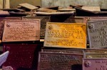 Rusted plaques in need of restoration