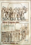 Henry's funeral, miniature from the Balduineum picture chronicle, 1341