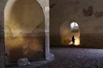 Sarcophagus niche off circular corridor