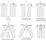 Sequence illustrating how the trousers were tailored