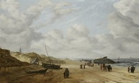 """View of Scheveningen Sands"" by Hendrick van Anthonissen, ca. 1641, after restoration"