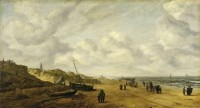 """View of Scheveningen Sands"" by Hendrick van Anthonissen, ca. 1641, before restoration"