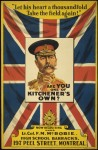 &quotAre you one of Kitchener's own?&quot, Canadian recruiting poster, 1915