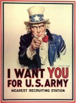 """I Want YOU"" army recruitment poster by James Montgomery Flagg, 1917"