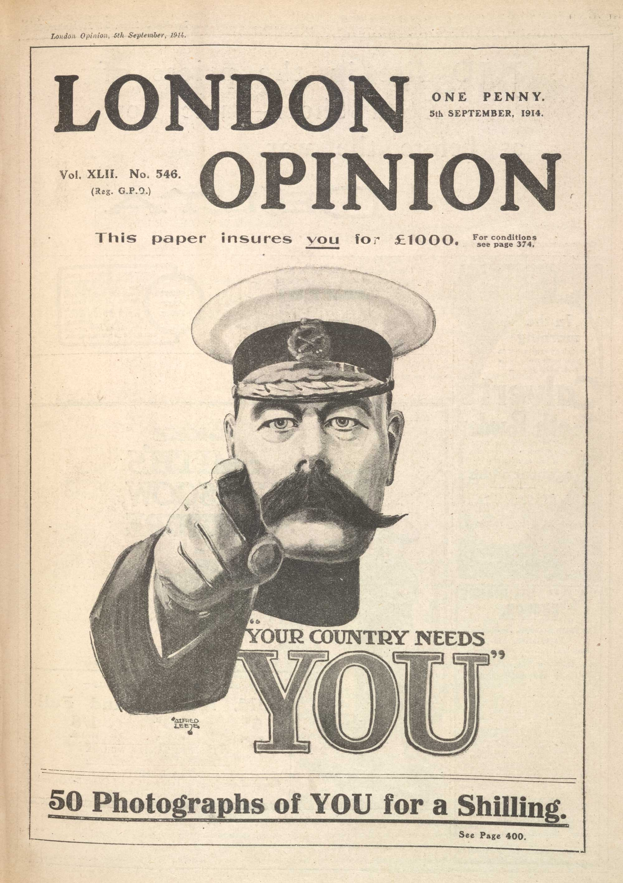 Recruitment Moot Plus Additional Ephemera Cover Of London Opinion By Alfred Leete