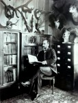 William T. Hornaday in his Bronx Zoo office, 1905