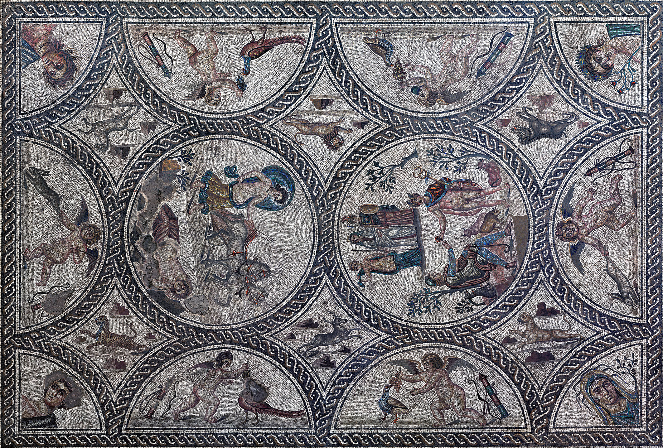 The history blog blog archive spain s earliest image for Mosaico romano