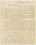 Page one of Rev. Samuel Clarke's letter, Schooner Script font