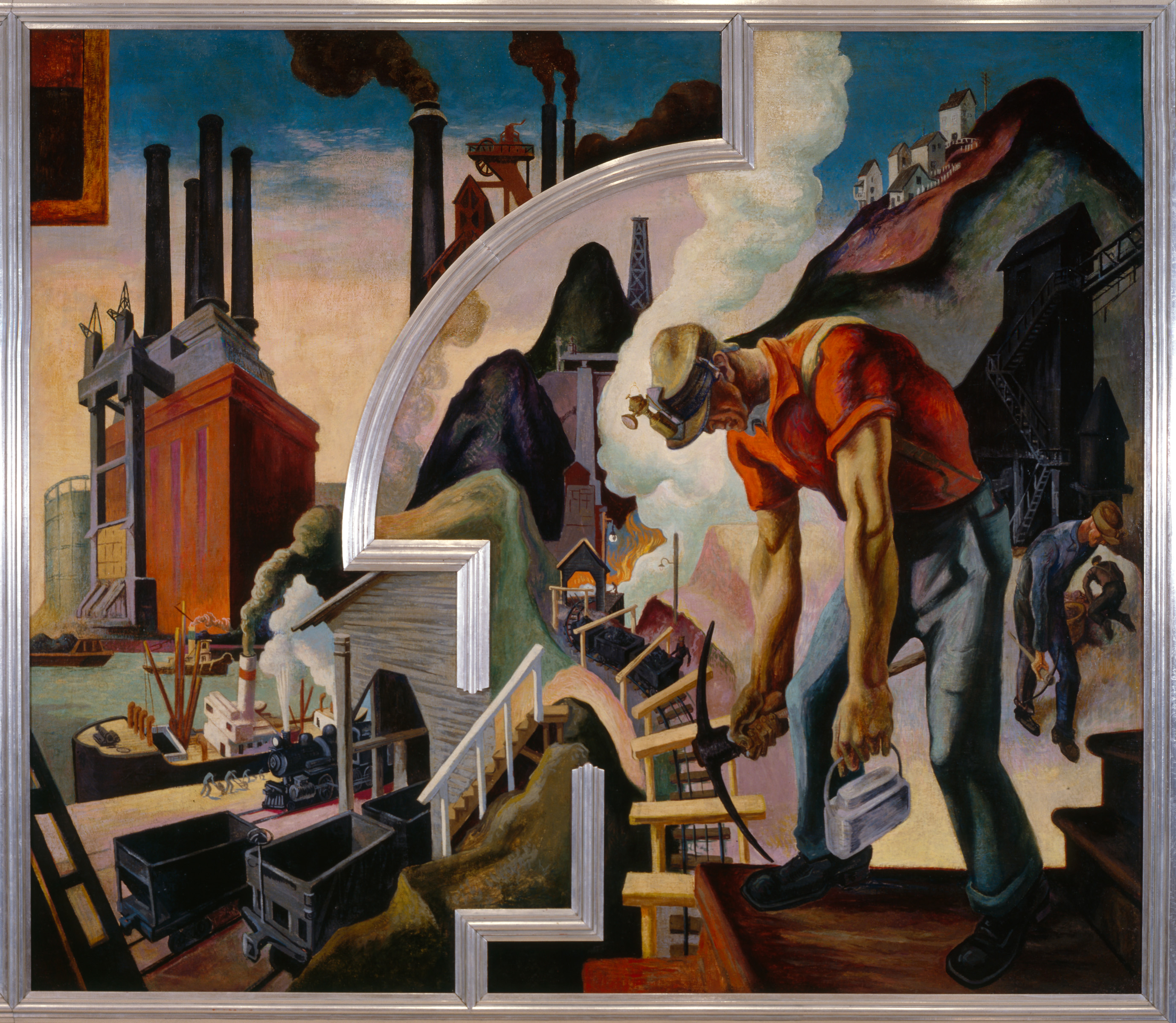 The history blog blog archive thomas hart benton s for America today mural