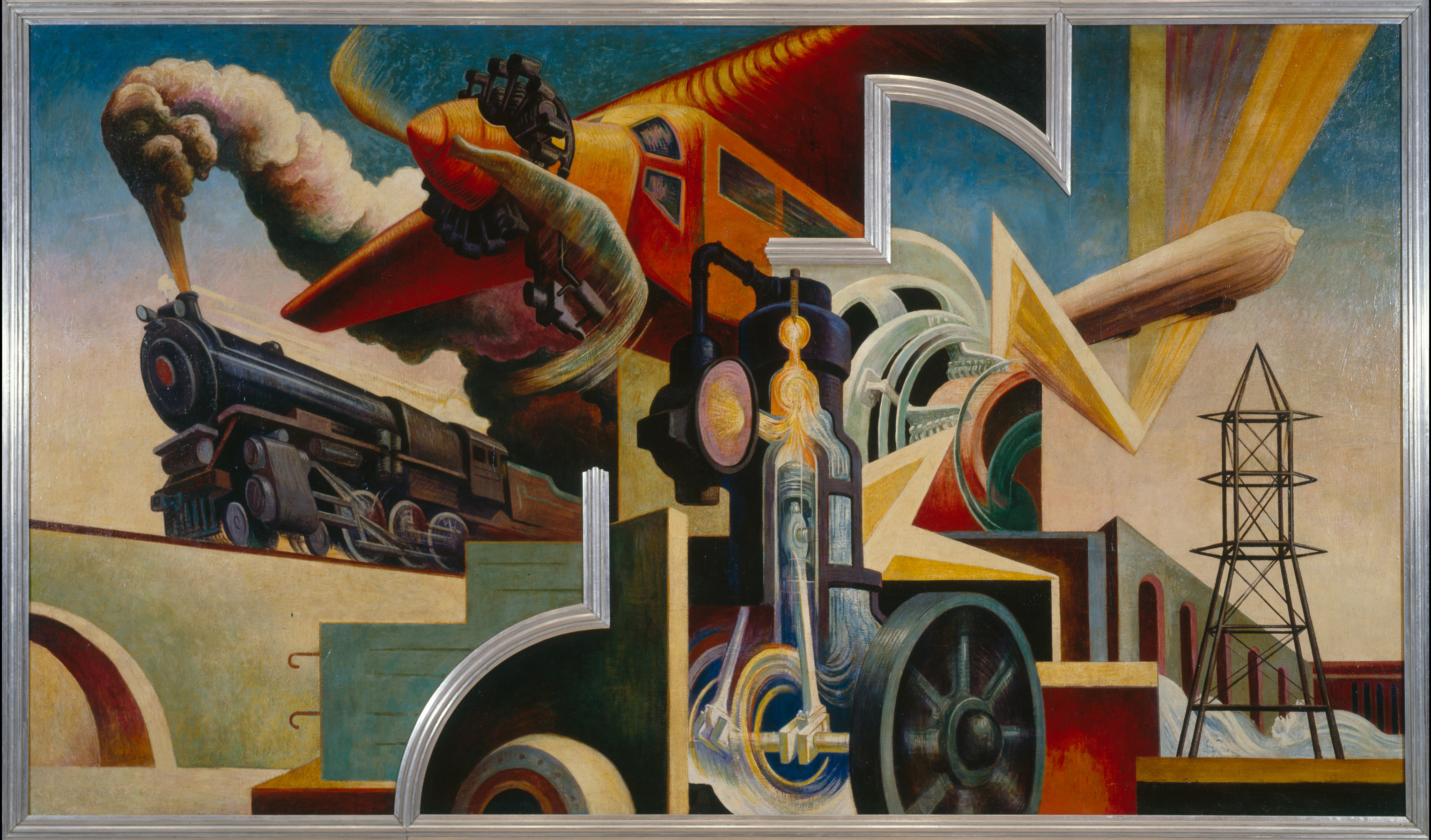 The history blog blog archive thomas hart benton s for Mural history