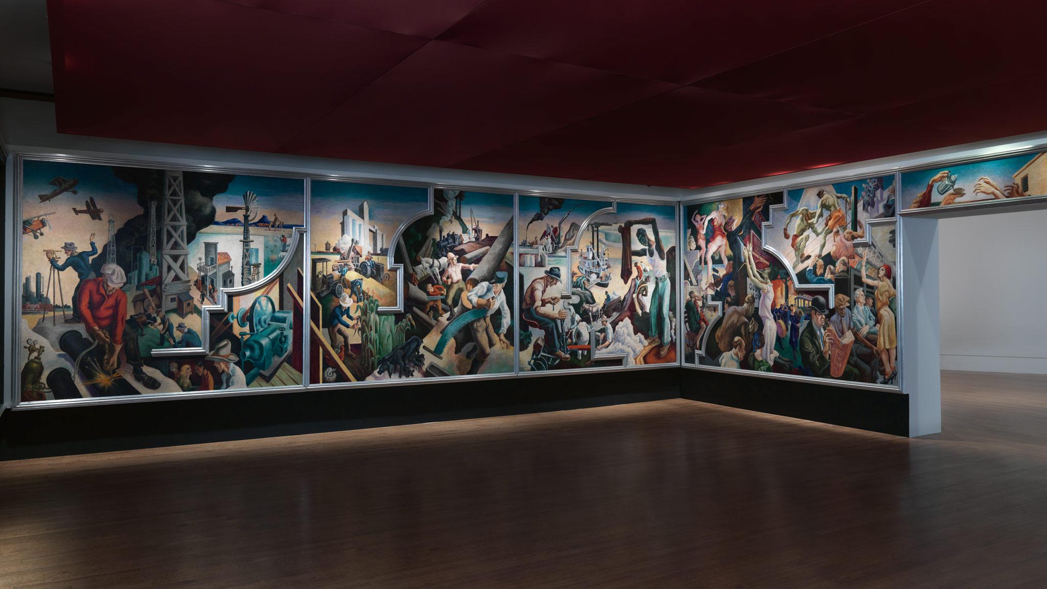 The history blog 2014 november 21 for America today mural