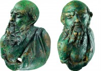 Bronze Silenus found on Falster, 1st c. A.D.