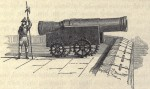 "Print of Mons Meg in 1681 from the ""Domestic Annals of Scotland"" by Robert Chambers"