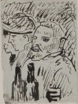 Sketch of Vincent van Gogh by Emile Bernard, winter of 1886-7