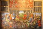 Shah Tahmasp I and Mughal Emperor Humayun meet, fresco on the wall of Chehel Sotoun Palace Isfahan.