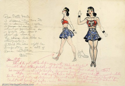 Original Illustration of Wonder Woman by H.G. Peter, ca. 1941